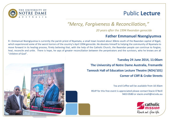 Public Lecture_Mercy Forgiveness and Reconciliation
