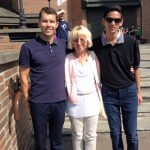 (L-R) Mariusz, Host mom and James during the Days in the Diocese in Warsaw