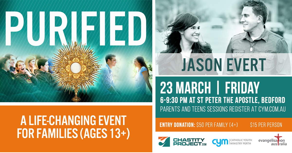 Jason Evert Purified March 23 at St peter the Apostle Bedford